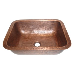 Rectangular Hammered Copper Sink
