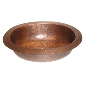 Oval Hammered Copper Sink