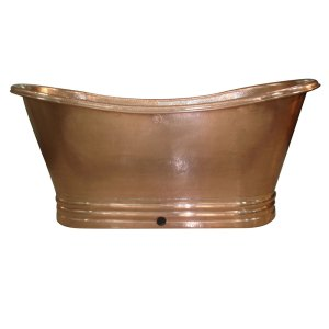 Shiny Copper Bathtub Copper Hand Tinned
