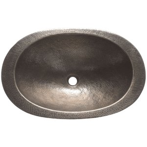Copper Sink Oval Hammered Shape