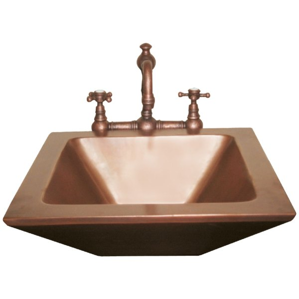Rectangular Double wall Copper Sink