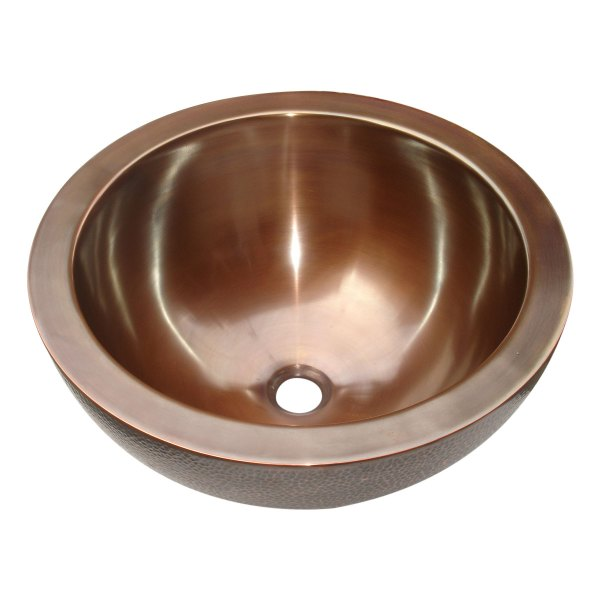 Copper Sink Double Walled Hammered Outside