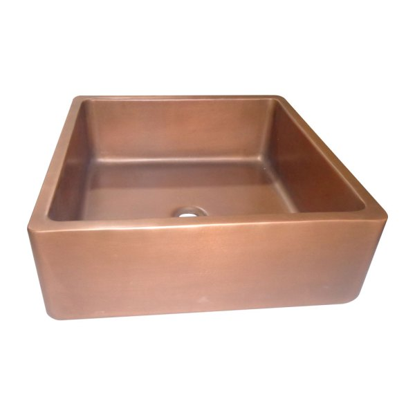Square Double Wall Copper Sink