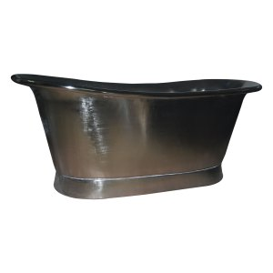 Straight Base Copper Bathtub Full Nickel Finish