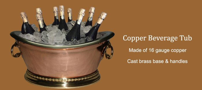 Benefits of Copper Beverage Tub
