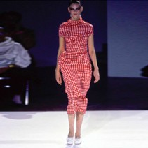 COMME DES GARÇONS GINGHAM LUMPS & BUMPS DRESS, 1997