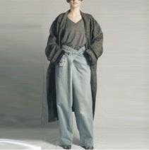 MAISON MARTIN MARGIELA LONG OVERSIZED COAT&OVERSIZED JEANS, 2000