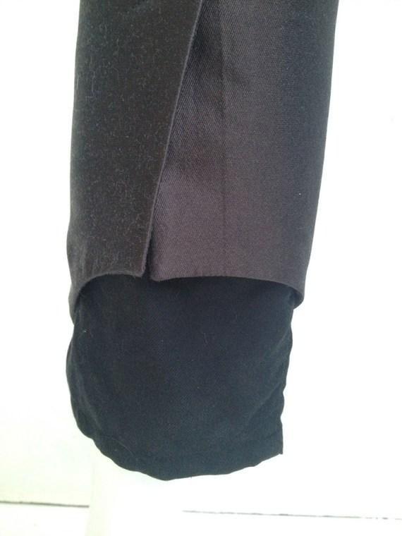 vintage Haider Ackermann purple peplum trousers — fall 2010