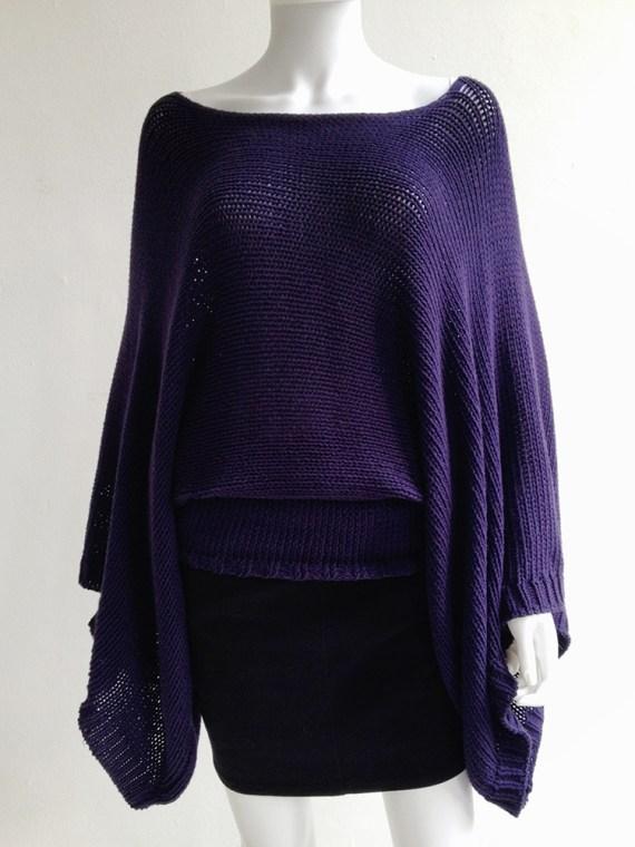 second hand Ann Demeulemeester purple batwing jumper