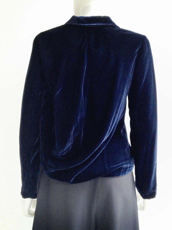 secondhand Comme des Garçons blue velvet blazer