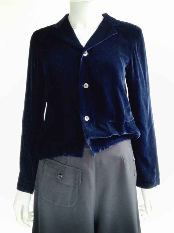 vintage Comme des Garçons blue velvet blazer