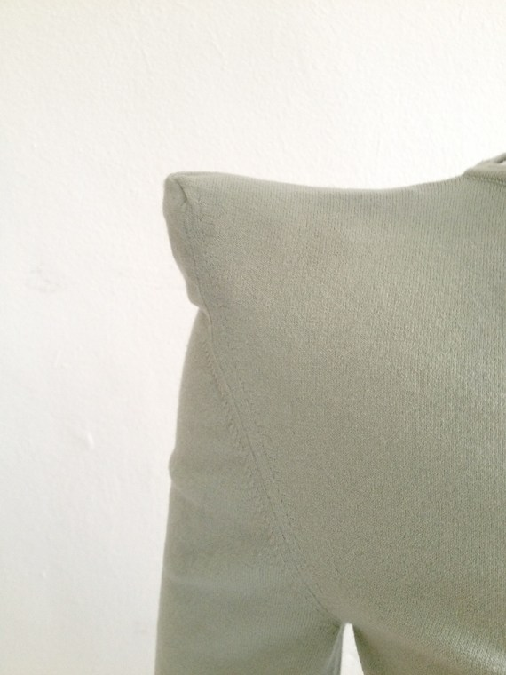 vintage Maison Martin Margiela green shoulder peak top — fall 2009