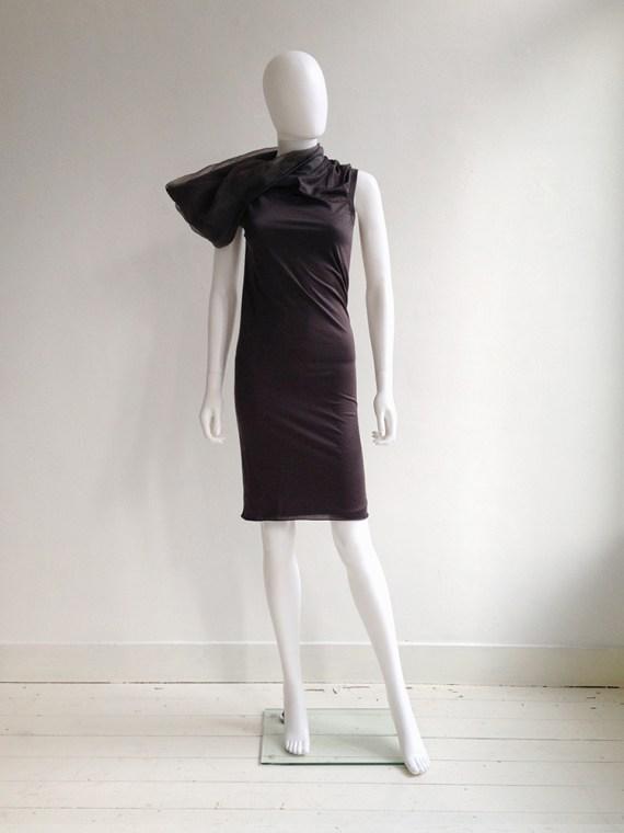 Rick Owens brown asymmetric collar dress fall 2010 – GLEAM