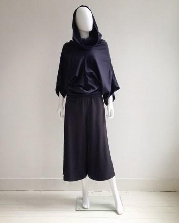 Comme des Garçons blue draped collar top — 1996   Comme des Garcons blue wide ankle trousers   shop at vaniitas.com