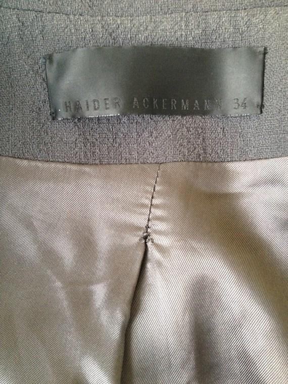 Haider Ackermann grey asymmetric blazer — spring 2008