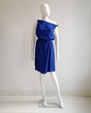 vintage Maison Martin Margiela replica blue 1978 summer cocktail dress