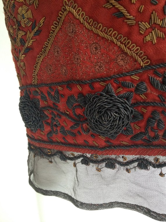 archive 90s Dries Van Noten Indian bollywood style embellished brown skirt