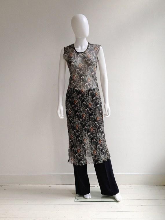 Dries Van Noten sheer dress — spring 1998   Maison Martin Margiela wide trousers   shop at vaniitas.com