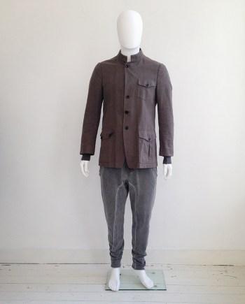 vintage Dries Van Noten khaki green military jacket