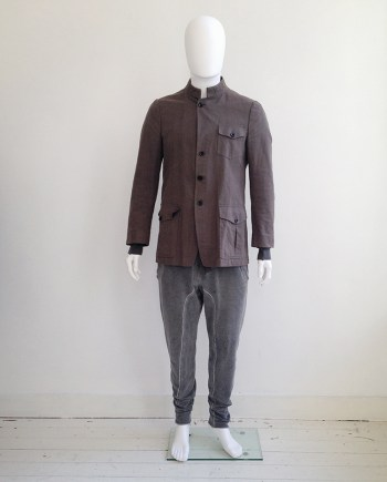 vintage Dries Van Noten khaki green military jacket