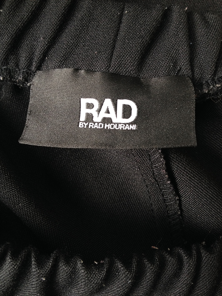 Rad by Rad Hourani black unisex leggings with front panels skirt fall 2012 runway 8641
