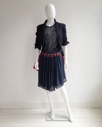 UnderCover by Jun Takahashi blue vampire skirt — fall 2013
