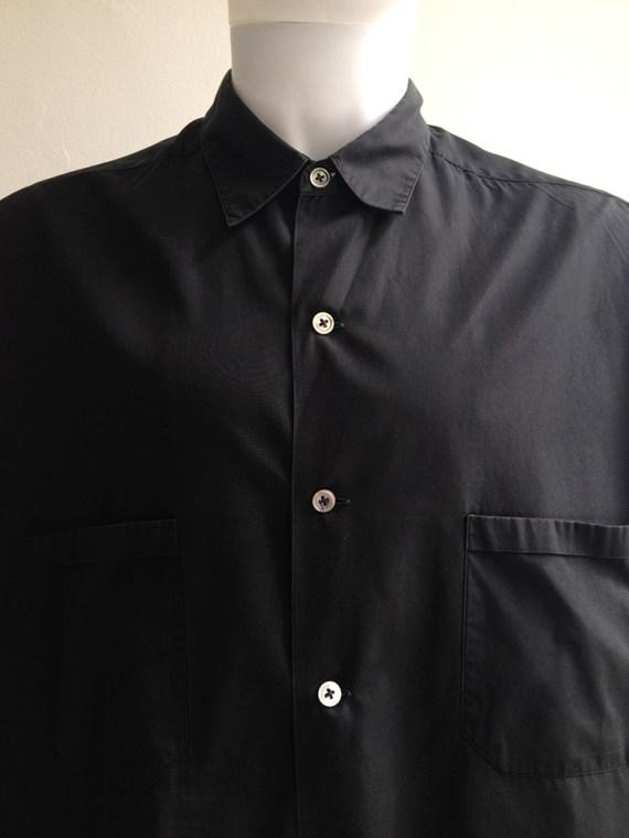 Yohji Yamamoto homme mens black oversized shirt archive 80s 19808918