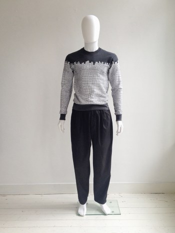 vintage Yohji Yamamoto pour Homme high waisted black trousers — 80s