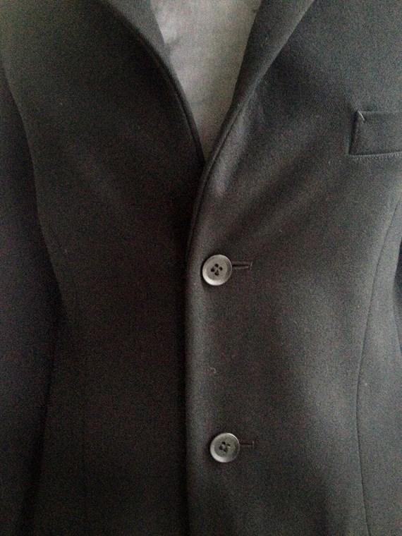 vintage Y's Yohji Yamamoto black structured blazer