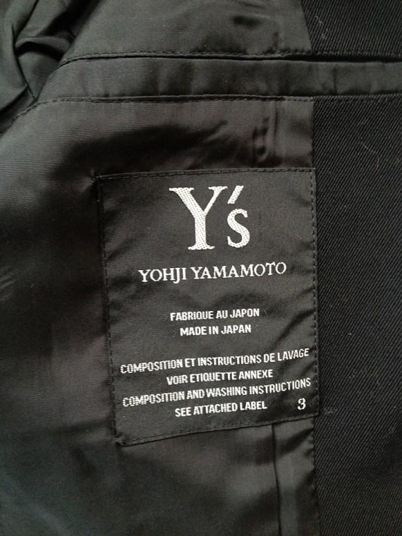 second hand Y's Yohji Yamamoto black structured blazer