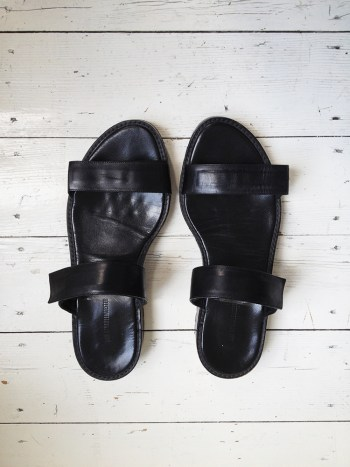 Ann Demeulemeester black sandals