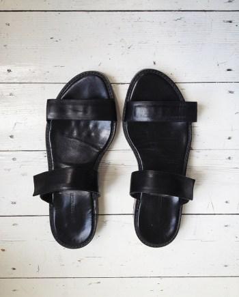 Ann Demeulemeester black sandals