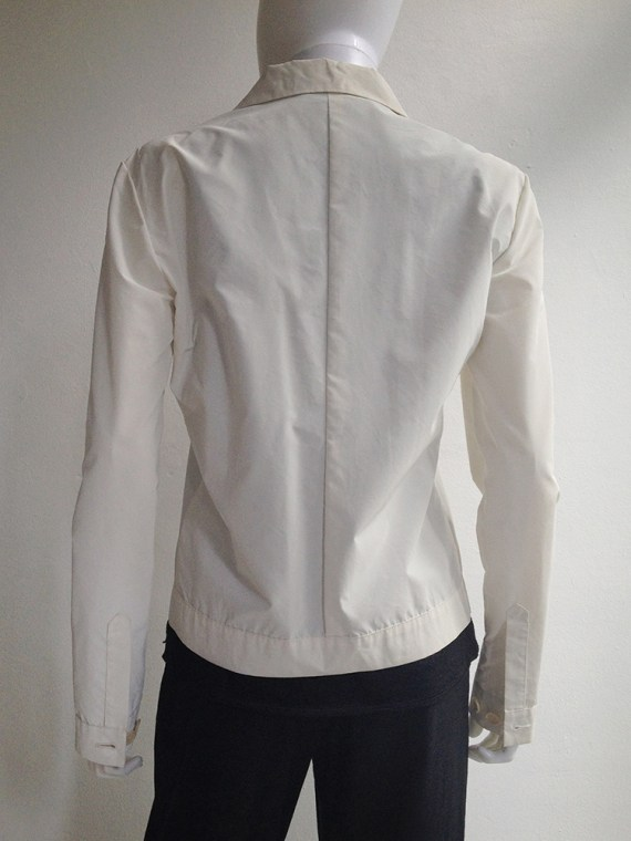 Helmut Lang archive white reflective jacket – fall 1994 -top5