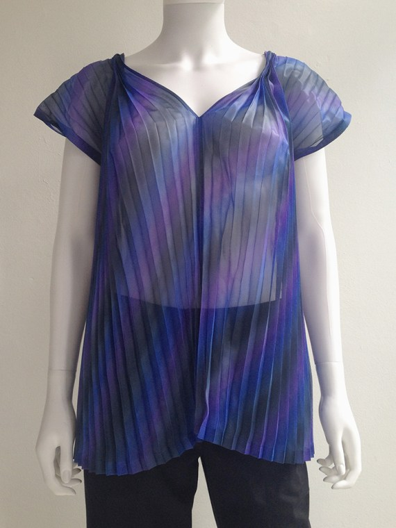 Issey Miyake Fete purple pleated transformation top top1