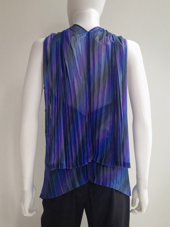 Issey Miyake Fete purple pleated transformation top top10