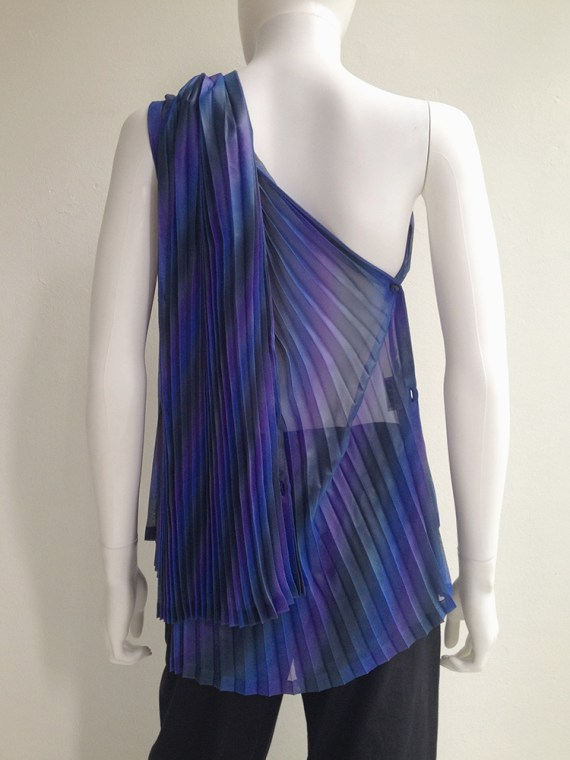 Issey Miyake Fete purple pleated transformation top top4