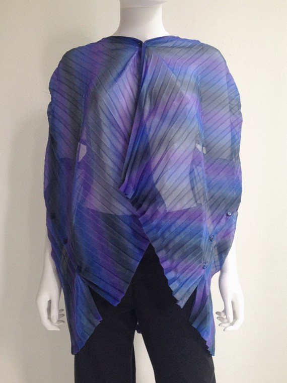 Issey Miyake Fete purple pleated transformation top top7