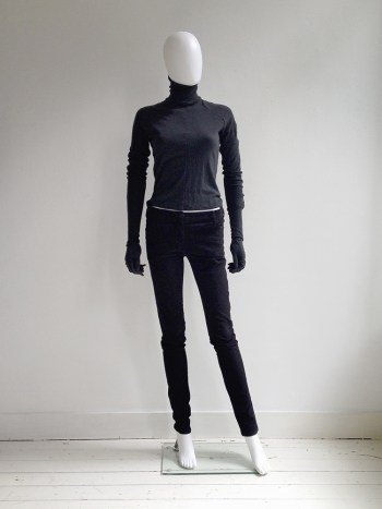 A.F. Vandevorst black gloved jumper – fall 2011