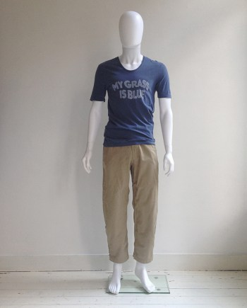Maison Martin Margiela 'my grass is blue' t-shirt — spring 2007