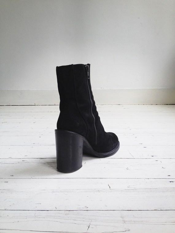 A F Vandevorst black suede ankle boots 3788 copy