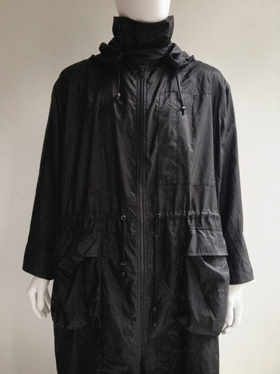 Issey Miyake windvoat black foldable parka 1999 top1