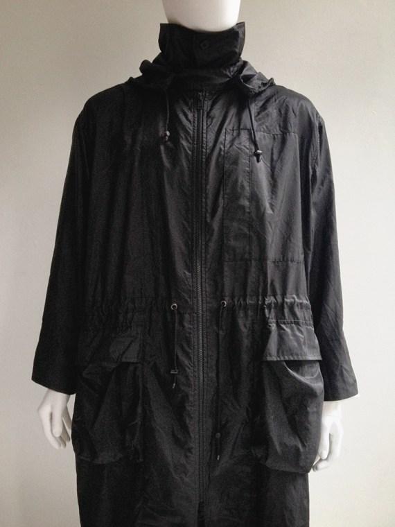 Issey Miyake Windcoat black foldable parka