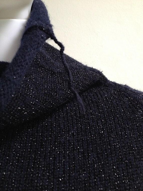 Maison Martin Margiela blue lurex jumper — fall 1999