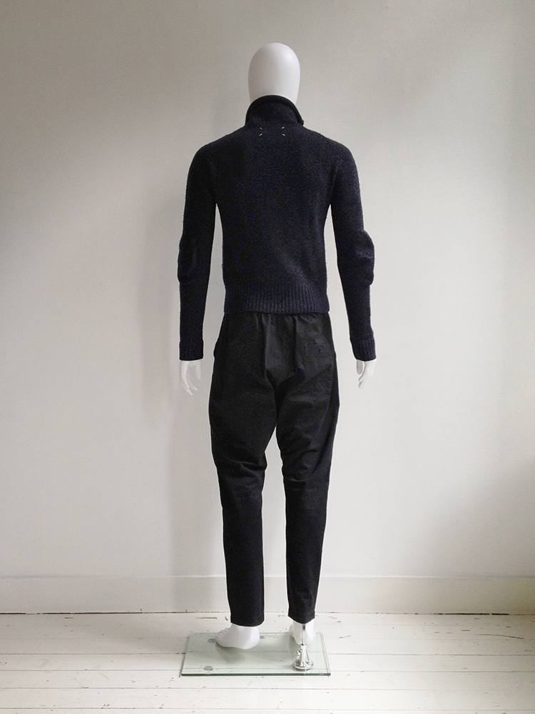 Maison Martin Margiela blue lurex jumper — fall 1999