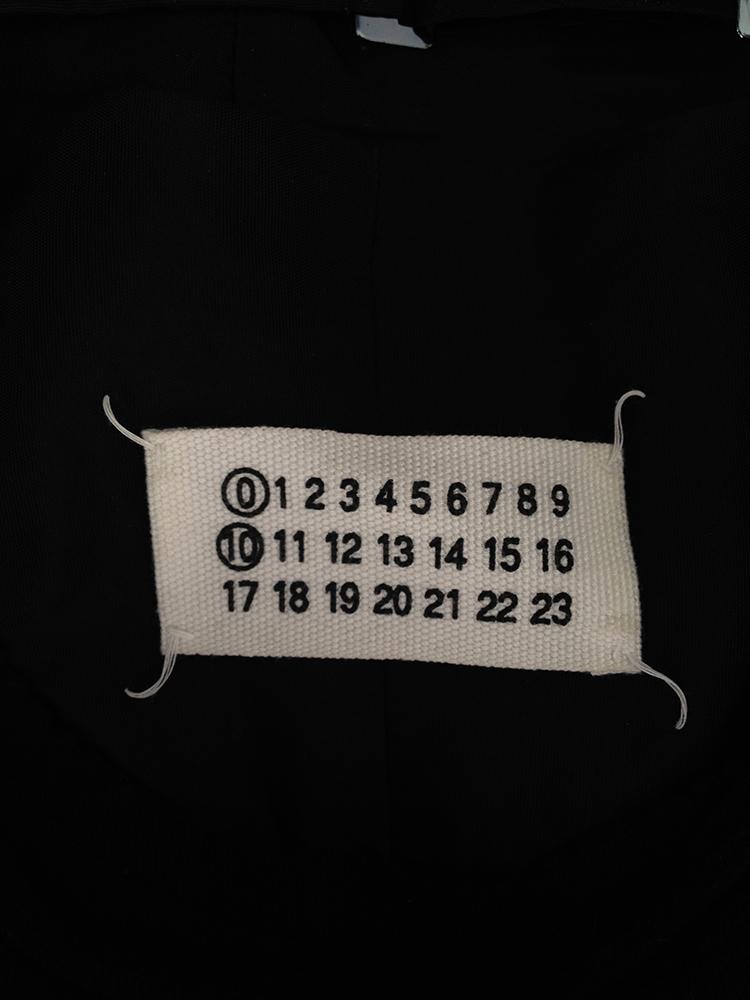 Maison Martin Margiela artisanal black jumper with attached waistcoat — 2002