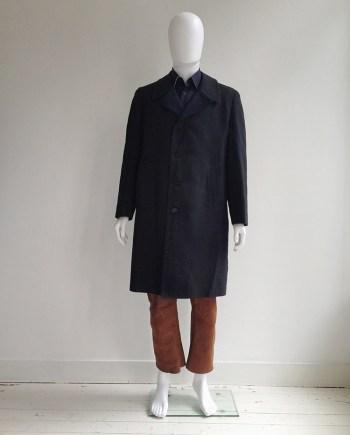 Maison Martin Margiela artisanal black painted deconstructed coat