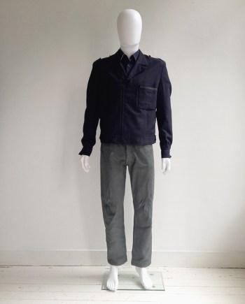 Maison Martin Margiela artisanal blue military jacket — 2004