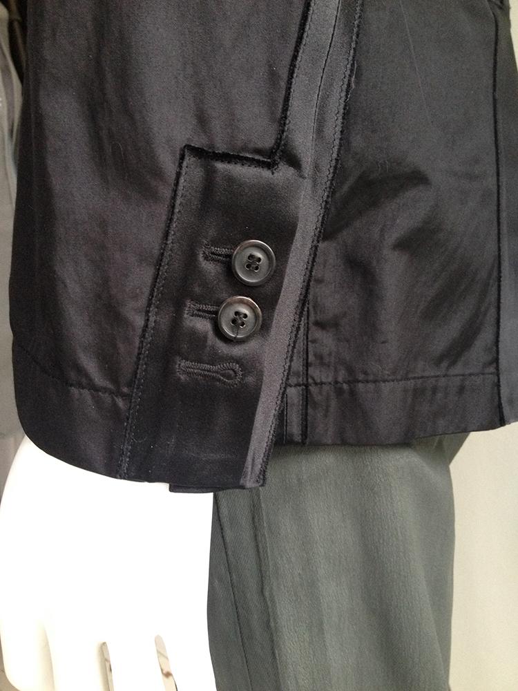 Maison Martin Margiela black blazer with outside seams 2006 8434