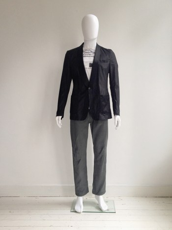 Maison Martin Margiela black blazer with outside seams