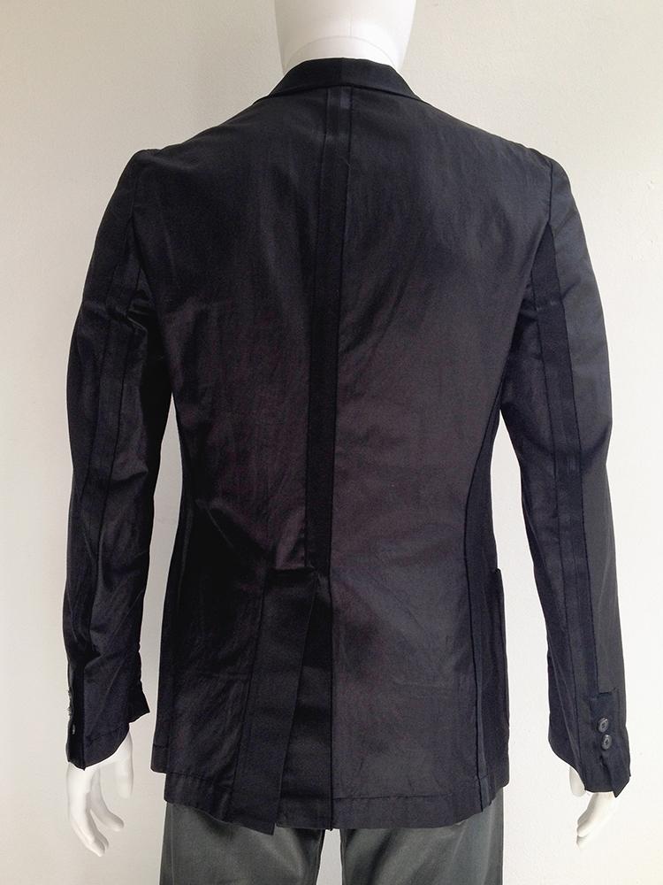 Maison Martin Margiela black blazer with outside seams